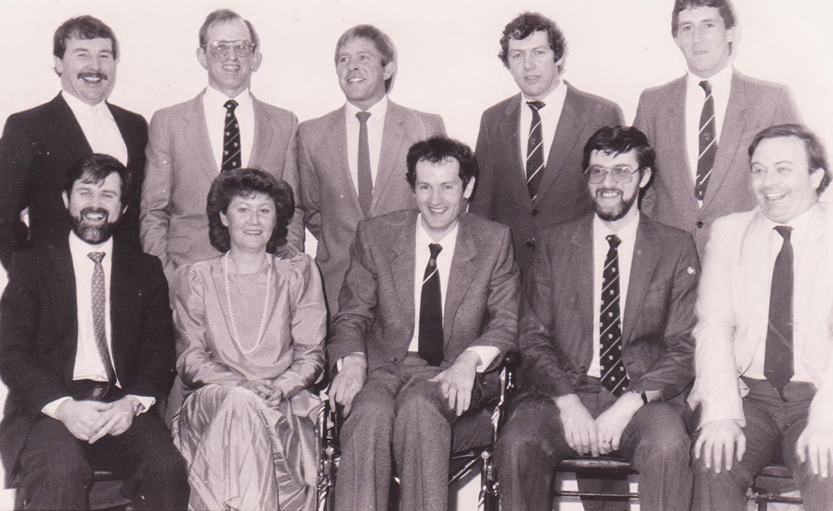 David Egan fund-raising group 1985